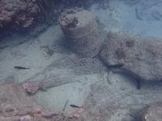 Bidón y redes fondo mar