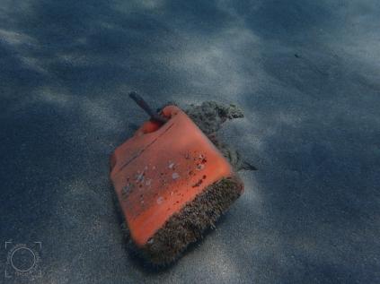 Bidón fondo playa