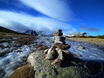 Hito en alta montaña Gredos