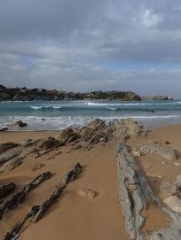 Plataforma de abrasión en playa de Portio, Cantabria