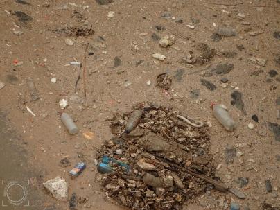 Residuos aliviadero entrada EDAR Línea Aguas