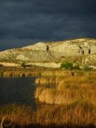Humedal Mar Ontígola y tormenta