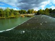 Salto agua río Tajo Jardín Príncipe
