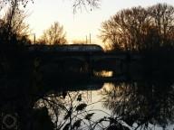 Tren sobre el río Tajo Jardín Príncipe